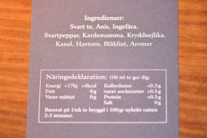 Ingredienser Chai Fjällvind
